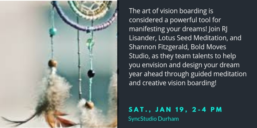 Vision boarding is considered a very powerful tool for manifesting your dreams! Join RJ Lisander, Lotus Seed Meditation, and Shannon Fitzgerald, Bold Moves Studio, as they team talents t