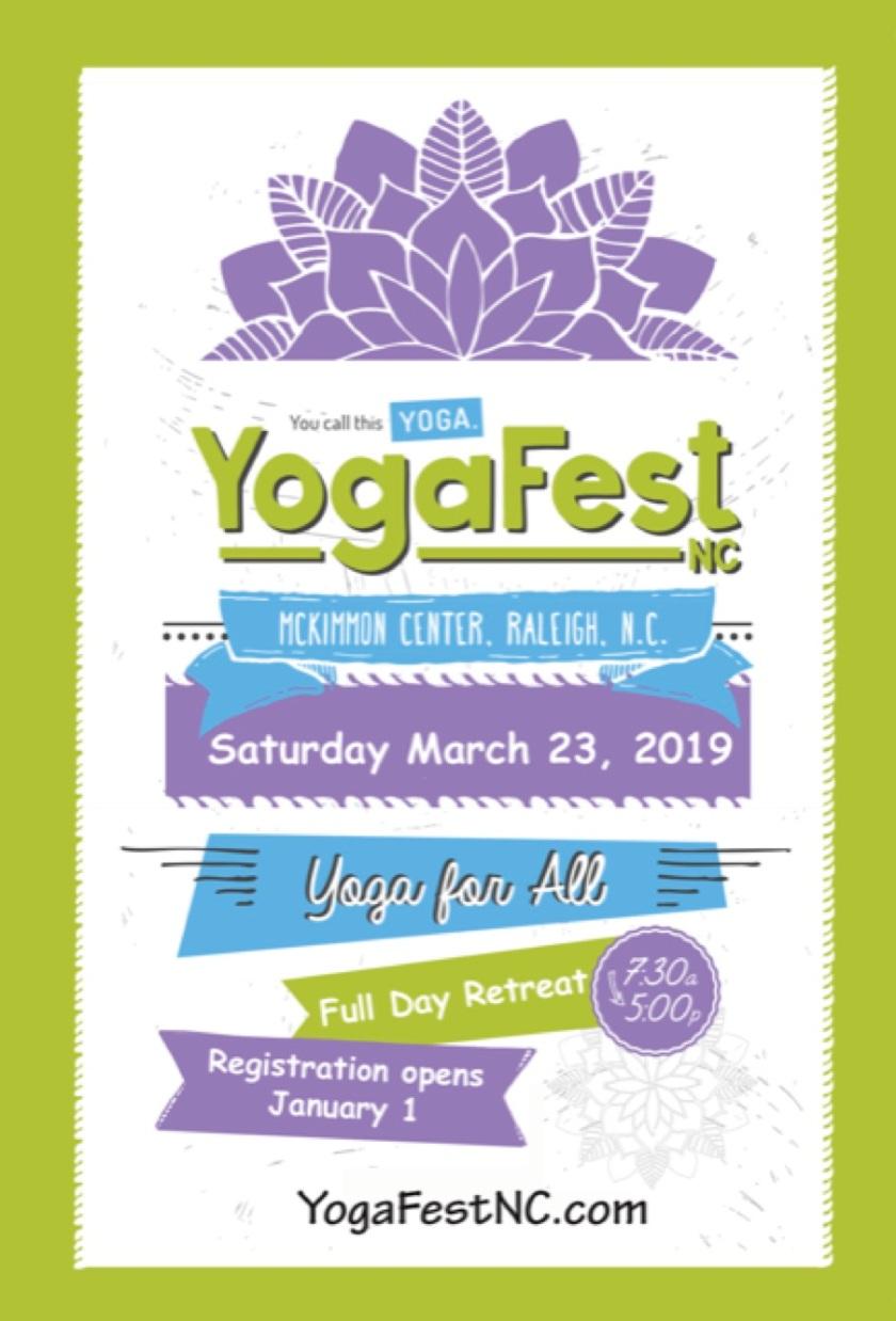 YogaFest NC 2019 social media poster